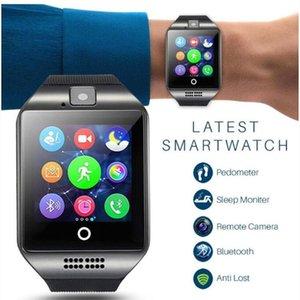 Tarjeta inteligente P18 Reloj Bluetooth con la cámara Whatsapp Facebook Twitter SmartWatch Soporte SIM TF fitness Control de actividad de pulsera para Android