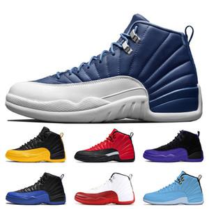 nike air jordan 12 retro 12 Jumpman Schuhe 2020 Stein Blau 12 Reverse-Flu Spiel Universität Gold 12 Herren-Trainer Basketball-Schuhe 12s Dunkel Concord XII Sport Turnschuhe