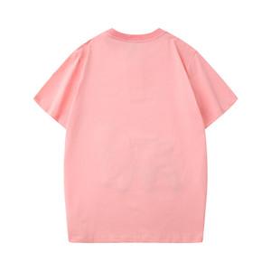 الجديد في 2020 مصمم الصيف قمم قصيرة الأكمام الملابس العلامة التجارية إلكتروني نمط الرجال الرجال رجل إمرأة في لطباعة تي جولة العنق