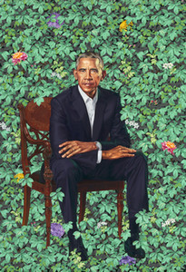 Барак Обама Kehinde Wiley Art Works Обамы Портреты Декор стены Фото Art Print Home Decor Плакат Холст UNFRAME 16 24 36 47 дюймов