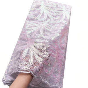 White Sequins Lace Fabric 2020 High Quality Indian African Cord Lace Fabric Bridal Latest Nigeria Tulle Lace Material For Dress