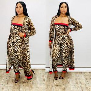 Kadınlar Giyim Yeni Geliş Siyah Çizgili 3 adet Casual Giyim Uzun Pelerin Straplez tulumları Bodysuit ayarlar Kostümler büyük beden kadınlar ayarlar