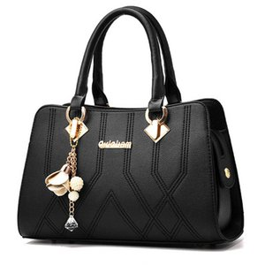 high qulity classic Designer womens handbags black ladies composite tote PU leather clutch shoulder bags female purse with wallet