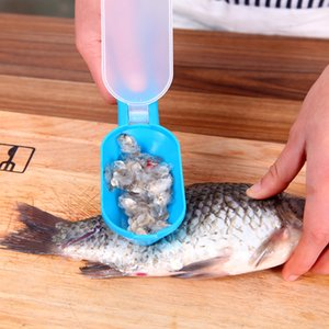 Fish Scales Skin Remover Scaler Scraper Knife Fast Cleaner scale scraper Stainless steel fish-scale planer with cover and Knife YDL037