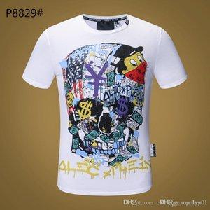 siyah beyaz Kafatası Tee kapalı Kadınlar Erkek Tasarımcı T Gömlek Moda 20ss Lüks kot Tişörtlü Yaz Homme torba ayakkabılar 11 Tops