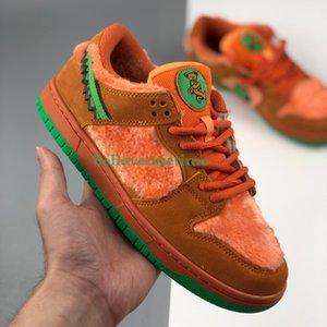 2020 Nueva SB Dunk Low x Grateful Dead osos naranja oso mujeres de los hombres de los zapatos corrientes del diseñador de moda Patín zapatillas de deporte con la caja Tamaño 36-45