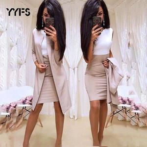 Dress suit women Sheath O-Neck Mini Dress Sexy Formal blazer dress femme office wear 2 Piece Female Sets vestido formal mujer T200716
