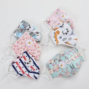 Fronte di modo che i bambini Maschera bambini maschere Cartoon Anime, Print bambini lavabili partito protezione a respirazione attiva Primavera Estate Maschere Festive