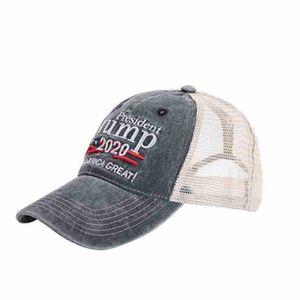 Donald Trump 2020 Baseball Cap Trump Face Masks Keep America Great President Election Trump Mesh Cap Outdoor Sports Party Hats CYZ2489 60Pcs