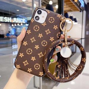 diseñador de la marca con casos teléfono hermoso adorno de pulsera para iphone 11Pro 11 XS XS max xr 8plus 8 7plus gama alta