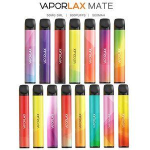 VAPORLAX originale MATE dispositivo monouso preriempita da 3 ml Cartuccia Pod 500mAh batterie 800 Puff Vape Svuotare Xtra Bar PLUS flusso 100% autentico