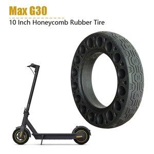 10 дюймов Резиновые Сплошные шины для Ninebot Max Электрический самокат Honeycomb поглотитель Damping Tire черный