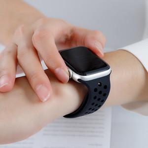Para substituição Apple Watch BandsSoft Silicone Desporto de banda para Apple Watch 38 milímetros 40 milímetros Série 1 2 3 4 5 42 milímetros 44 milímetros Pulseira de Pulso St
