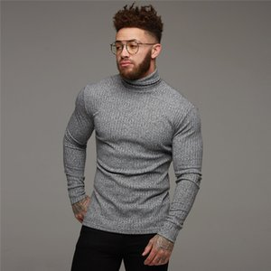 New Fashion Winter Sweater Men Warm Turtleneck Mens Sweaters Slim Fit Pullover Men Classic Sweter Men Knitwear Pull Homme CX200730