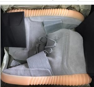 Adidas Yeezy Boost 350 V2 Version d'usine 750 gomme grise Phosphorescent Kanye West Chaussures 750 Chaussures de sport Hommes Chaussures de basket-ball