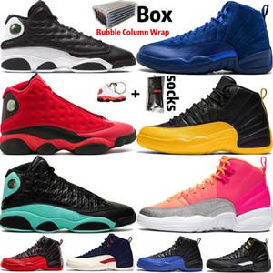 2020 Nike Air Jordan 12 Retro Jumpman 12 Üniversite Altın Taksi Spor 12s Erkek Basketbol ayakkabıları Ada Yeşil 13 Playoff 13s Erkekler Spor Tasarımcı Sneaker eğitmenler Boyut 47