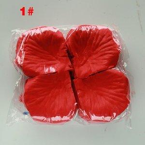 100pcs  Set Silk Rose Petals for Wedding Decoration Romantic Artificial Flowers Polyester Wedding Rose Petals Various Colors for Choice