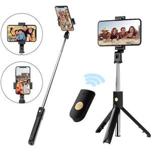 selfie tripod horizontal vertical shooting detachable bluetooth remote selfie stick adjustable holder stretchable ring light selfie tripod