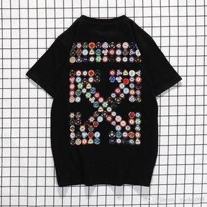 Black White Fashion Summer Men T Shirts Summer Cotton Tees Skateboard Streetwear Casual Short Sleeves Fashion Printing.YN31