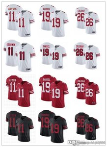 Erkekler Kadınlar San Francisco49ersGençlik 99 Javon Kinlaw 26 Tevin Coleman 19 Deebo Samuel 11 Brandon Aiyuk Futbol Formalar Kırmızı Siyah