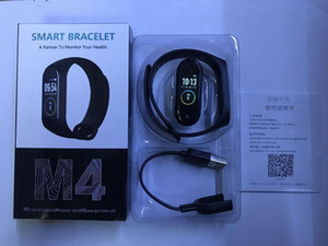 M4 Smart-Band Fitness Tracker Uhr-Sport-Armband Herzfrequenz Smart Watch Fitbit 0,96 Zoll Smartband Monitor-Health-Armband