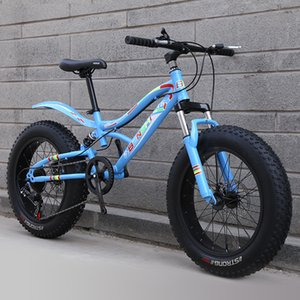 Mountain Bike Super Thick Tire Snow Bike Mountain Bike Beach Cross-Country Variable Speed Shock Absorption Large Tire Boy Student Childrens