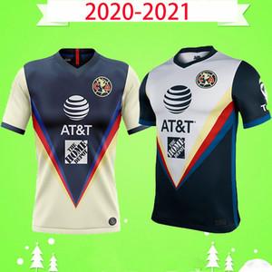 2020 2021 LIGA MX Club America Soccer Jerseys 20 21 America Team 10 # C.Dominguez 24 # O.Peralta p.Aguilaire chemise de football uniforme