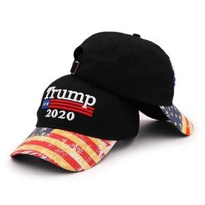 트럼프 2020 모자 미국 국기와 야구 모자 남성 여성 스냅 백 모자 자수 뼈 남여 트럼프 스냅 백은 파티 모자 LJJP129 캡