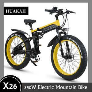 Eléctrica de bicicletas de montaña 350W 26 pulgadas de la batería de litio de 48V 13Ah Ebike plegable hidráulico del freno de disco de encargo portátil