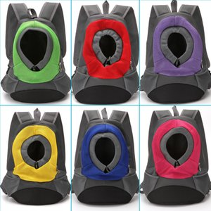 Tragbare Haustiere Träger Erweiterung Kopf Tier Dog Carriers Seil Schnalle Hunde Rucksack Reißverschlüsse Rucksack Pet Supplies-Rundhalsausschnitt 23 5md C2