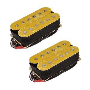 Premium Electric Guitar Pickups Humbucker Double Coil Pickup Set, 6 Strings, Yellow