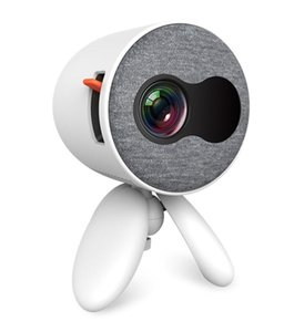Home cinéma YG220 Mini Projecteur 480 * 272 pixels Prise en charge 1080P HDMI USB Portable mignon Projecteur tête réglable Lecteur vidéo pour enfants cadeau
