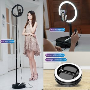 led ring light selfie tripod G1 desk live broadcast selfie lights portable foldable highly retractable ringlight