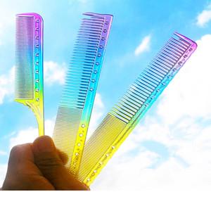 Rainbow pettine in resina trama di sezione di sezione di sezione evidenziando il pettine di foiling pettine strumento di evidenziazione