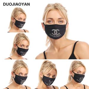 Primera marca frente a diseño máscara máscaras de protección ultravioleta a prueba de polvo a prueba de equitación deportes de ciclo del Rhinestone de la boca Máscaras hombres de las mujeres al aire libre