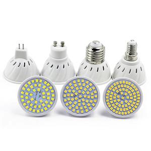 Lâmpada LED 5W 7W 9W SMD2835 48 60 80leds E27 B22 E14 MR16 GU10 Lâmpada 110V 220V White White LED Lâmpada Spotlight