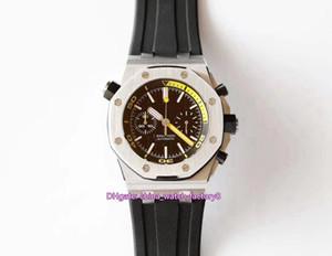 6 Estilo melhor qualidade JF fabricante de relógio 42 milímetros Offshore 26703 26703ST.OO.A038CA.01 Chronograph Workin CAL.3124 movimento automático relógios Mens