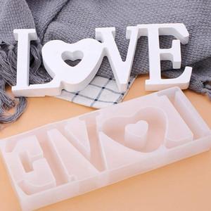 Résine de silicone amour Moisissures épée pour résine époxy bricolage Décoration de table Mot signe Moisissures romantique Valentine Pendentif