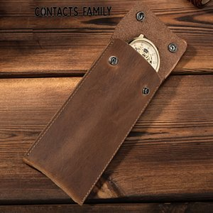 kijZb CONTACTS mad horse cowhide multifunctional genuine leather change CONTACTS mad Watch horse cowhide watch bag multifunctional genuine l