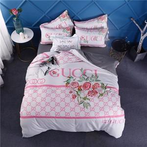 G 디자이너 침대 이불 세트의 킹 사이즈 흰색 꽃 디자이너 베개 케이스 시트 좋은 패션 디자이너 침구 세트 침대