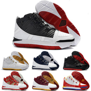 Мужской Retre Lebron 3 баскетбол обуви для продажи MVP Рождества BHM Oreo детей lebrons сапоги кроссовок