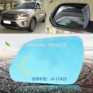 Para Hyundai IX25 2014-2017 Espejo retrovisor de coche Gran Angular Espejo Azul Flecha LED de encendido de las luces de señales