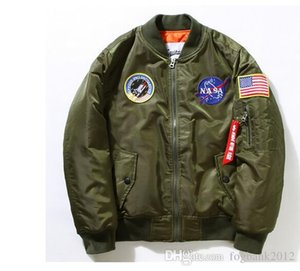 Kış Sıcak nasa MA1 ceket Erkekler Askeri Hava Uçuş Bombacı Ceket Ordu Hava Kuvvetleri Fly Pilot Ceket
