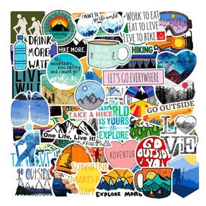Pack of 50pcs Wholesale Outdoor Hiking Cute Stickers Nature Camping Travel decals Guitar Laptop Skateboard Motor Bottle Car Decal Bulk Lots