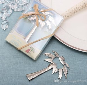"""Palm Breeze"" dono Chrome Palma Beer Bottle Opener nozze sposa doccia favore SN348BEsH #"