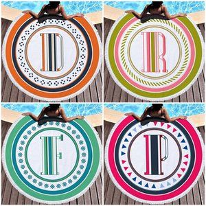 Round Printing Beach Towel Ultrafine Fibers Tassels Lace Colorful Bath Towels Reusable Portable High Quality And Inexpensive 26dm J1