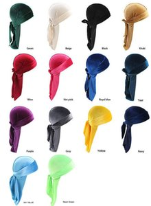 14 style unisex Velvet Durags Bandana Turban Hat pirate caps Wigs Doo Durag Biker Headwear Headband Pirate Hat Hair Accessories DA652