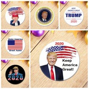 TRUMP 2020 Eleição Presidente Badges Suprimentos republicano Botão do apoio Pin 5.8 * 5.8cm Cavalo Boca Ferro emblema YYA302