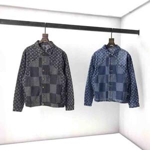 2020 britânico de última moda primavera verão estilo Big flor Denim jacket hoodies casuais top de algodão respirável Paris T dos homens
