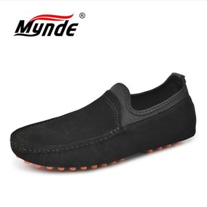 New Men Casual Shoes Fashion Men Shoes Genuine Leather Loafers Moccasins Slip On Men's Flats Male Driving Size 38-49